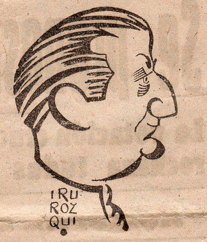 Caricatura de Pepe Campúa realizada por Irurozqui publicada en La Prensa