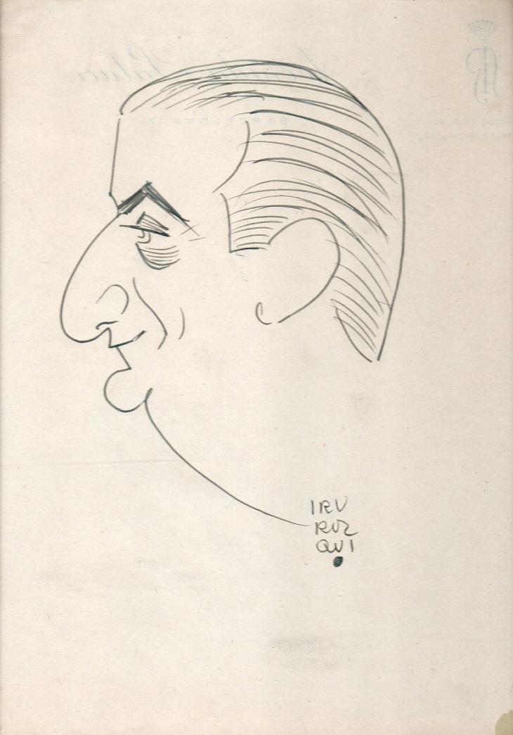 Caricatura original de Pepe Campúa realizada por Irurozqui