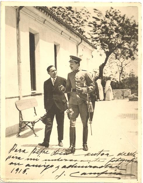 """José Luis Demaría Vázquez, """"Campúa"""" padre junto a Alfonso XIII"""