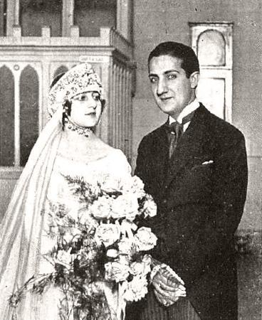 Pepe Campúa el día de su boda con Esther Piñerúa Fernández del Nogal