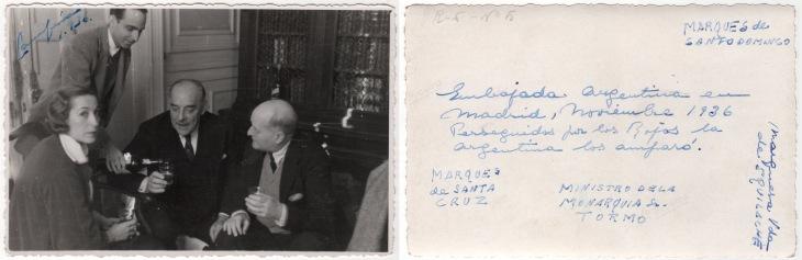 Algunas de las personas que, junto con Pepe Campúa, se refugiaron en la Embajada de Argentina en Madrid durante la guerra civil