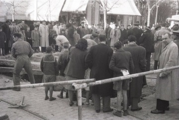 Hundimiento en la calle Eloy Gonzalo esquina a Trafalgar, 5 de diciembre de 1951