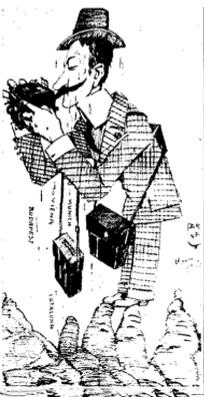 """Caricatura de José Luis Demaría López """"Campúa"""" realizada por Brunet"""