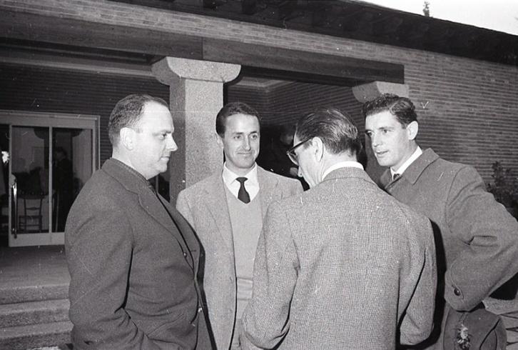 Manuel Fraga junto a otros ministros de gobieron que participaron en la cacería celebrada el 22 de febrero de 1964