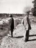 Carmen Polo y Francisco Franco fotografiados por Campúa durante una cacería en El Pardo