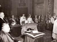 La boda de Carmen Franco y Polo con Cristóbal Martínez Bordiú, captada por el fotógrafo Pepe Campúa