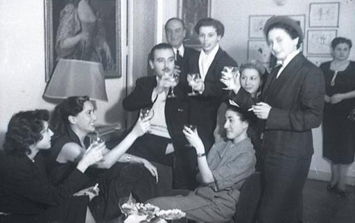 19 de marzo de 1951 Onomástica de José Campúa celebrada en su estudio de la c/ Bárbara de Braganza