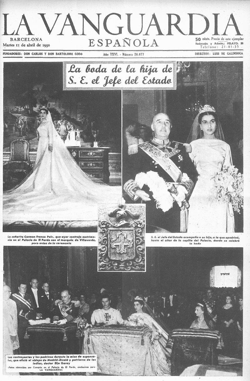 Portada de La Vanguardia del 11 de abril de 1950 con las fotografías exclusivas de Campúa