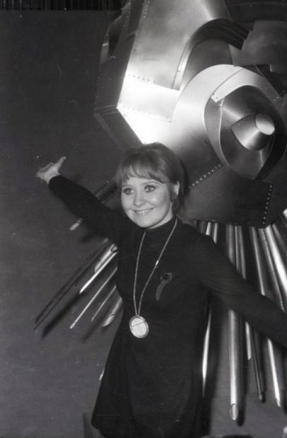 Lulú, representante de Reino Unido y una de las ganadoras del Festival de Eurovisión 1969. Foto. Campúa