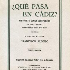 """Portada de una edición de """"¿Qué pasa en Cádiz?"""""""