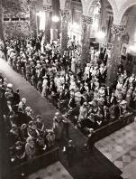 Boda de Juan Carlos de Borbón y Sofía de Grecia celebrada en Atenas el 14 de mayo de 1962. Foto. Campúa