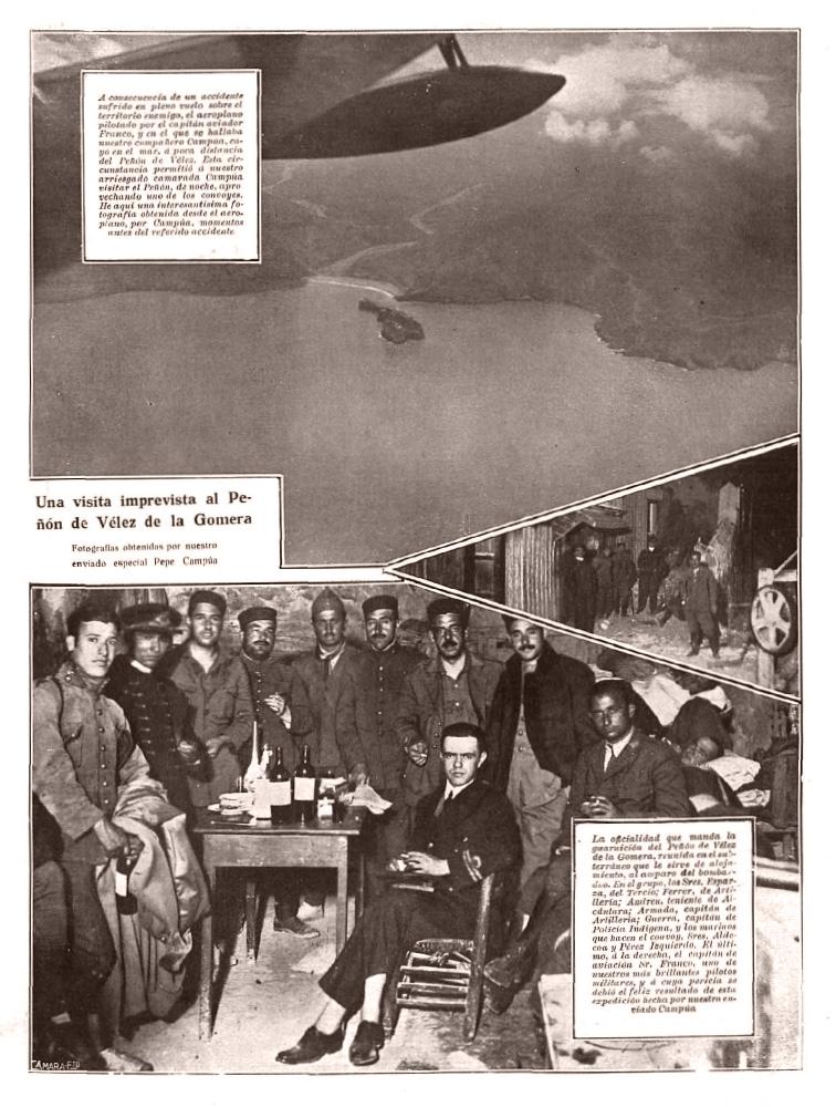 Página de Nuevo Mundo en cuya parte superior aparece una de las fotografías tomadas antes del accidente.