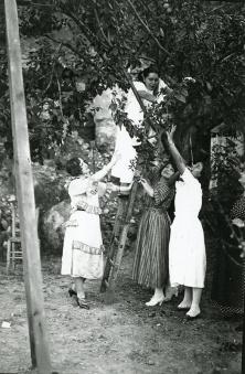 Raquel Meller en sus vacaciones en 1921