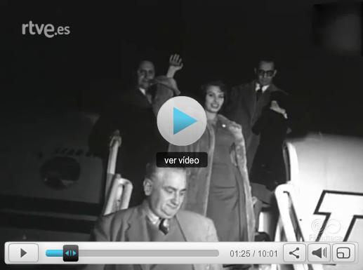El No-Do, único noticiario audiovisual de la época, también dio noticia de la visita de Sofía Loren a Madrid