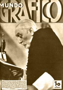 Portada de Mundo Grafico, revista dirigida por Campúa padre, publicada el 3 de octubre de 1934