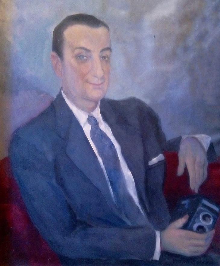 """José Demaría Vázquez """"Campúa"""" retratado por la pintora Magda Andrade"""