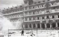 """Fuegos diurnos o """"mascletá"""" organizados con motivo de las fiestas de San Isidro en 1969, fotografiados por Campúa"""