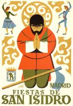 Cartel de las fiestas de San Isidro en Madrid en 1969